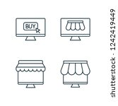 shopping by online market thin...   Shutterstock .eps vector #1242419449
