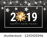 happy new year 2019 greeting... | Shutterstock .eps vector #1242420346