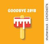 vector goodbye 2018 year vector ... | Shutterstock .eps vector #1242426076