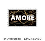 amore slogan with chain pattern ... | Shutterstock .eps vector #1242431410