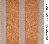 stitched leather frame brown... | Shutterstock . vector #1242431596