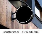 circle mockup of street store... | Shutterstock . vector #1242433603