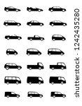vehicles silhouette set   Shutterstock .eps vector #1242435280