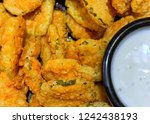 fried pickles with ranch... | Shutterstock . vector #1242438193