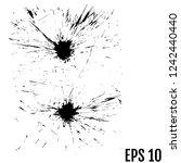 abstract black ink blot... | Shutterstock .eps vector #1242440440