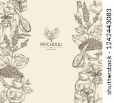 background with patchouli ... | Shutterstock .eps vector #1242443083