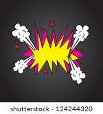 explosion comic cloud over ... | Shutterstock .eps vector #124244320