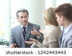 business team discussing work... | Shutterstock . vector #1242443443