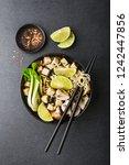 tasty asian vegetarian or vegan ... | Shutterstock . vector #1242447856