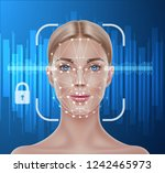 face recognition concept.... | Shutterstock .eps vector #1242465973