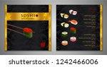 sushi bar menu design. japanese ... | Shutterstock .eps vector #1242466006