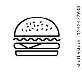 burger icon vector   Shutterstock .eps vector #1242472933