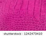 texture of pink purple genuine... | Shutterstock . vector #1242473410