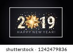 2019 new year greeting card... | Shutterstock .eps vector #1242479836