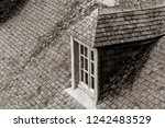 photo of beautiful window on... | Shutterstock . vector #1242483529