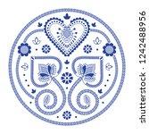 folklore floral nordic...   Shutterstock .eps vector #1242488956