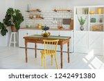 light white kitchen in modern...   Shutterstock . vector #1242491380