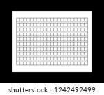 10x21squared manuscript paper.... | Shutterstock .eps vector #1242492499