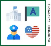 4 government icon. vector... | Shutterstock .eps vector #1242495046