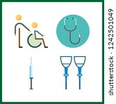 4 therapy icon. vector...   Shutterstock .eps vector #1242501049