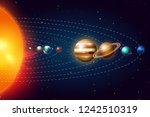planets of the solar system or... | Shutterstock .eps vector #1242510319