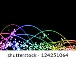 abstract multi color line and... | Shutterstock . vector #124251064