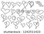 set of hand drawn scribble... | Shutterstock .eps vector #1242511423