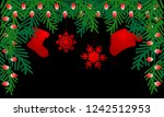 black background with red... | Shutterstock .eps vector #1242512953