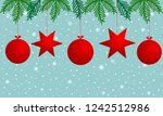 christmas background with red... | Shutterstock .eps vector #1242512986