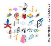 studies icons set. isometric...   Shutterstock . vector #1242520123
