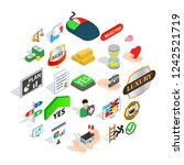 guidance icons set. isometric... | Shutterstock . vector #1242521719