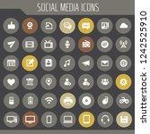 big social media icon set ... | Shutterstock .eps vector #1242525910