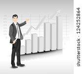 abstract 3d statistics ... | Shutterstock .eps vector #124252864