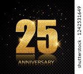 25 anniversary golden numbers... | Shutterstock .eps vector #1242531649