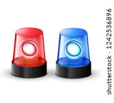 red blue flashing police beacon ... | Shutterstock .eps vector #1242536896