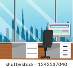 office viewing dubai sky line | Shutterstock .eps vector #1242537040