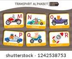 vector cute kids transport... | Shutterstock .eps vector #1242538753