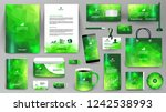 green corporate identity... | Shutterstock .eps vector #1242538993