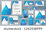 blue corporate identity... | Shutterstock .eps vector #1242538999