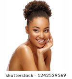 young african girl with perfect ... | Shutterstock . vector #1242539569