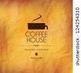 menu for restaurant  cafe  bar  ... | Shutterstock .eps vector #124254310