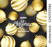 christmas background with tree... | Shutterstock .eps vector #1242555586