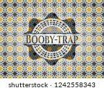 booby trap arabic style emblem. ... | Shutterstock .eps vector #1242558343