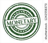 green monetary distress grunge... | Shutterstock .eps vector #1242558373