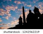 beautiful autumn sunset over... | Shutterstock . vector #1242562219