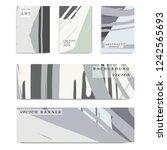 abstract universal grunge art... | Shutterstock .eps vector #1242565693