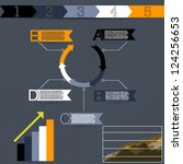 info graphics   Shutterstock .eps vector #124256653