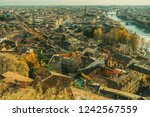 old medieval roman city from... | Shutterstock . vector #1242567559