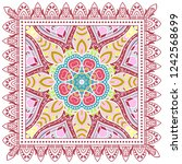 decorative colorful ornament on ... | Shutterstock .eps vector #1242568699
