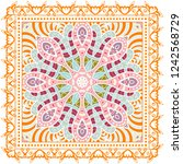 decorative colorful ornament on ... | Shutterstock .eps vector #1242568729
